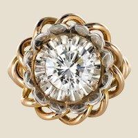 1960s Retro 2.06 Carat Diamond Solitary Ring