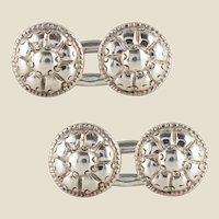 French 18th Century Sterling Silver Cufflinks