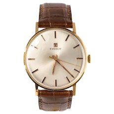 1960s Retro Tissot 18 Karat Rose Gold Men's Watch