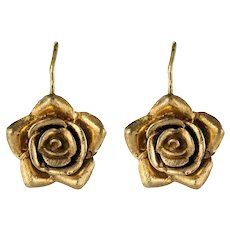 1960s 14 Karat Rose Gold Sleepers Earrings