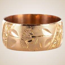 1900s French Napoleon III 18 Karat Rose Gold Band Ring