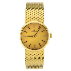 1980s Zenith 18 Karat Gold Ladies Mechanical Wristwatch