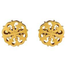 19th Century 18 Karat Yellow Gold Stud Earrings