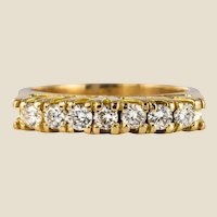 Modern Diamonds 18 Karat Yellow Gold Garter Ring