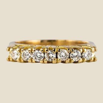 Modern Diamonds 18 Karat Yellow Gold Garter Ring