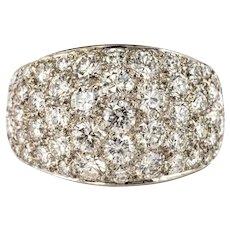 1980s French Modern 1.20 Carat Diamonds Platinum Bangle Ring