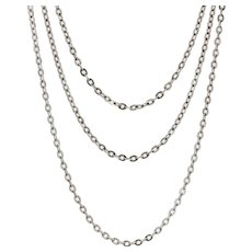 20th Century Silver Long Chain Necklace
