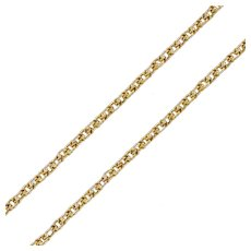 French 19th Century 18 Karats Yellow Gold Long Chain Necklace