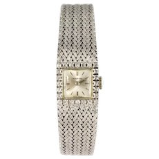 1960s Diamonds 18 Karat White Gold Ladies Marvin Watch