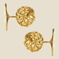 French 19th Century 18 Karat Yellow Gold Wedding Cufflinks
