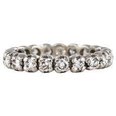 Modern 1.25 Carat Diamonds 18 Karat White Gold Wedding Ring