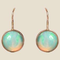 Baume 2.95 Opal 18 Karat Yellow Gold Drop Earrings