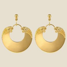 Modern Etruscan Style Vermeil Drop Earrings