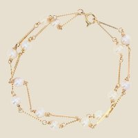 Modern Cultured Pearls 18 Karat Yellow Gold Bracelet