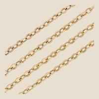 French 19th Century 18 Karat Yellow Gold Long Necklace