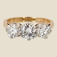 20th Century Diamonds 18 Karat Yellow Gold Garter Ring
