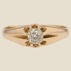 20th Century Diamond 18 Karat Yellow Gold Antique Ring