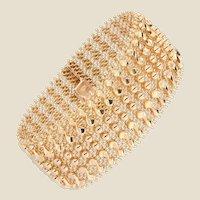 1960s Retro 18 Karat Rose Gold Woven Bracelet