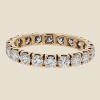1,50 Carat Brillant Cut Diamonds 18 Karat Yellow Gold Wedding Ring