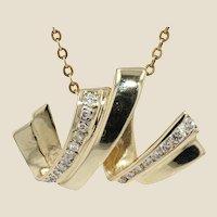 Modern Diamonds 18 Karats Yellow Gold Pendant