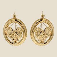 20th Century 18 Karat Yellow Gold Creoles Earrings