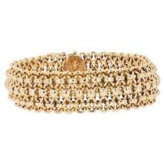 1950s 18 Karat Rose Gold Retro Bracelet