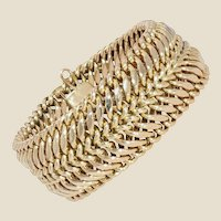 1950s 14 Karat Yellow Gold Curb Bracelet