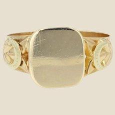French 19th Century 18 Karat Yellow Gold Signet Ring