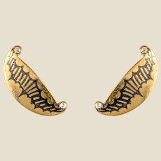 20th Century Diamonds Enamel Tiffany Stud Earrings