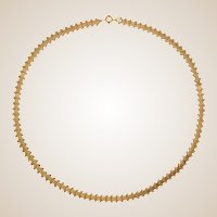 French 19th Century 18 Karat Rose Gold Folded Mesh Chain Necklace