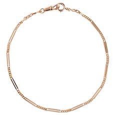 French 19th Century 18 Karat Rose Gold Watch Chain Necklace