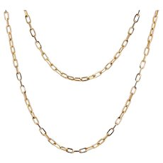 French 1960s 18 Karat Rose Gold Convict Link Chain