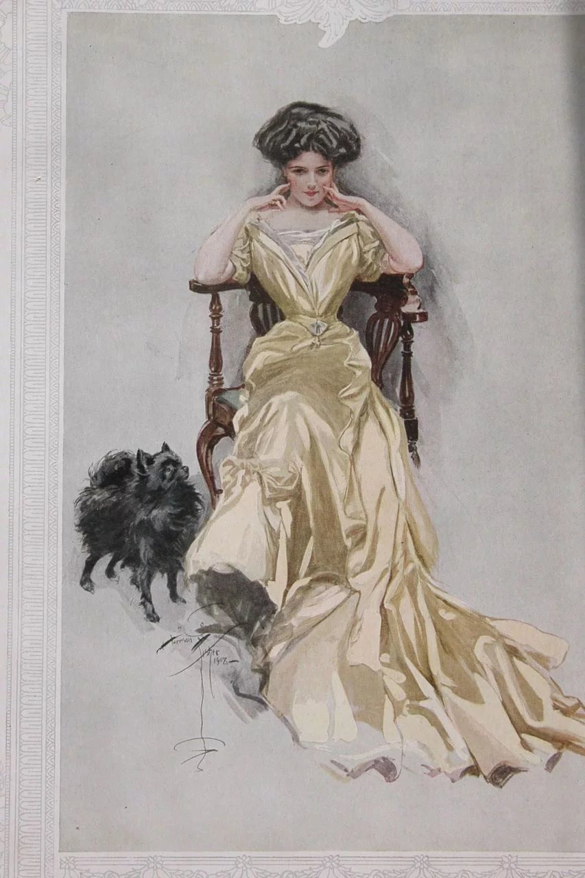 Harrison Fisher Book Bachelor Belles 1909 : Time in a