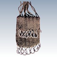 Doll Purse Steel Beads Authentic Coin Purse 1920s