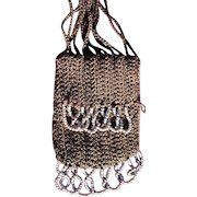 1920 Coin Purse Doll Purse w Glass Beads Authentic Coin Purse