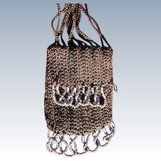 1920 Doll Purse Glass Beads Authentic Coin Purse Steel Beads Perfect