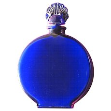 Perfume Bottle by Lucretia Vanderbilt Blue Glass
