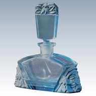 Glass Perfume Bottle in Blue and Gray