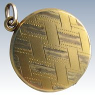 Vintage Locket Pendant 14K Gold Filled