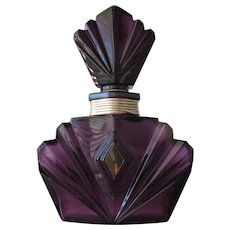 Factice Perfume Bottle Elizabeth Taylor Huge in Purple Glass Huge Store Display