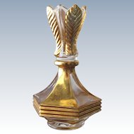 Perfume Bottle Crystal Fantasy Style in Gold and Clear