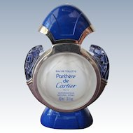 Rare Blue Perfume Bottle by Cartier Panthere de Cartier Empty