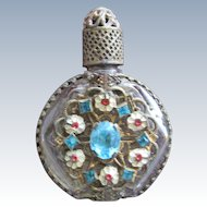 Jeweled Perfume Bottle Austria Mini Purse Perfume Turquoise