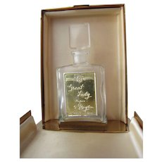 Boxed Perfume Bottle by Evyan Great Lady Perfume from 1950's Mint Condition - Red Tag Sale Item