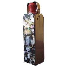 Vintage Perfume Bottle  Long Dauber in Metal Enamel Case