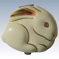 Estee Lauder Compact Vintage Enamel Bunny Rabbit Unused in Box