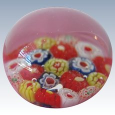 Millefiori Glass Paperweight Vintage Small Size