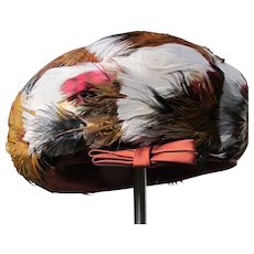 Vintage Feather Hat on Felt 1950's Perfect Howard Hodge New York