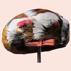 Feather Hat on Felt 1950's Perfect Howard Hodge New York