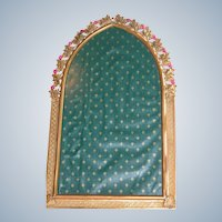 Jeweled Frame Mirror for Picture or Mirror Pink Glass Stones 1920's Frame